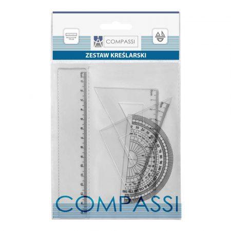 zestaw geometryczny compassi 4 elemz linijką 15cm w etui alibiuro.pl 26